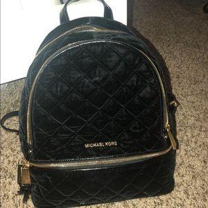 Micheal Kors Velvet Backpack